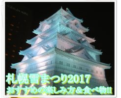 札幌雪まつり2017の開催期間&楽しみ方!おすすめのホテルや食べ物は