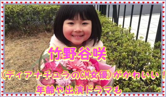 竹野谷咲(ディアナチュラのCM女優)がかわいい!年齢や出演ドラマも